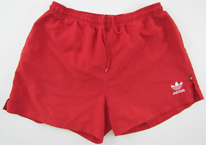 top design cheapest price sold worldwide Details about Adidas vintage 1990s red polyester shorts Hose soccer  athletic D6 M GB 34