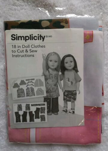 "Simplicity Sewing Pattern 18/"" Doll Clothes to Cut /& Sew/_502811004/_unpacked"