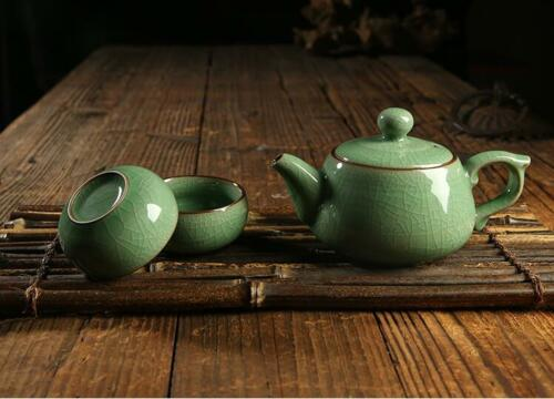 China Longquan celadon kung fu tea with a pot of two cups