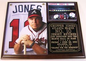 Offer Up Atlanta >> Chipper Jones #10 Jersey Retirement Atlanta Braves HOF Photo Plaque | eBay
