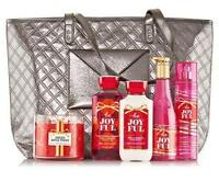 Bath & Body Works 2015 Tote - Be Joyful Gift Set & Candle $103 Msrp