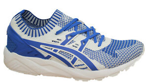 Chaussures Baskets Textile H7s4n 4545 kayano Blanche Asics Homme Tricot Bleu Gel Eq1annUwxI