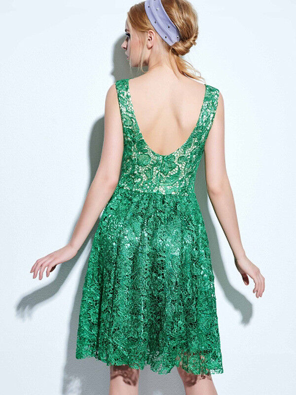Holiday Lace Dresses Jade Green or Crimson Red Size Cho