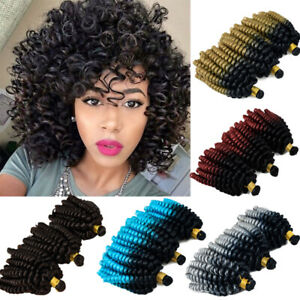 100 Natural Kinky Curly Crochet Braids Short Deep Wave As Human Hair Extensions Ebay