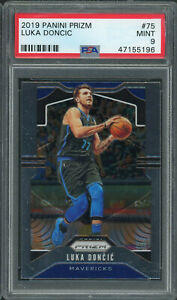 Luka-Doncic-Dallas-Mavericks-2019-Panini-Prizm-Basketball-Card-75-Graded-PSA-9