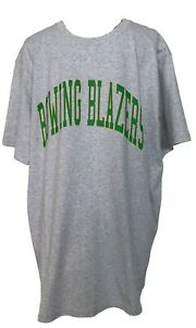 NEW-ROWING-BLAZERS-COLLEGIATE-GRAY-T-SHIRT-GREEN-LOGO-XL-75