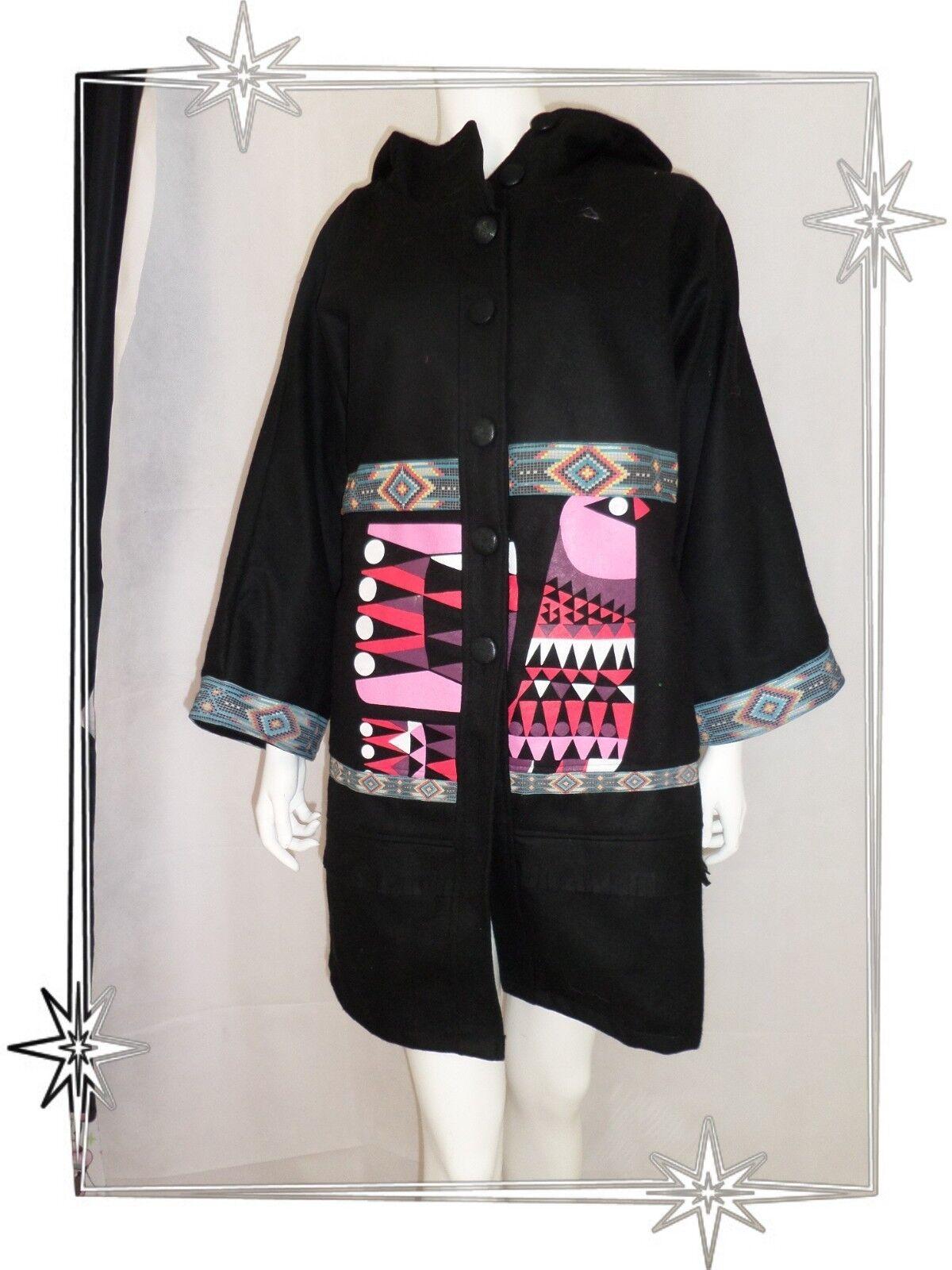 F - Superbe Manteau black Fantaisie Capuche  Savage Culture size M