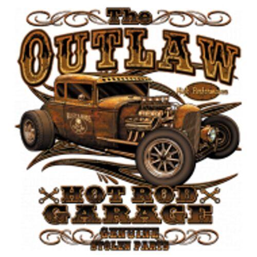 T shirt noir v8 old school hot rod us Car /&/' 50 style Motif Modèle the Outlaw