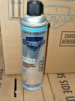 Case of 12 SPRAYON S00749000 Electrical Degreaser 15 oz cans EL749 New spray