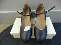 Black Leather Bloch Cabaret 2.5 Character Stage Dance Shoes - Various Sizes