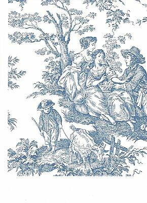 Waverly Blue Colonial Toile on White Wallpaper WA7830 ...