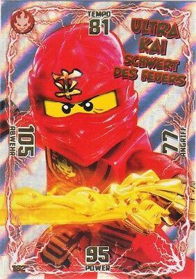 3 LEGO Ninjago Serie 1 Sammelkarten Techno Kai