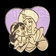 Disney Pin: WDW Cast Lanyard Pin Collection 1 Aladdin and Jasmine Heart
