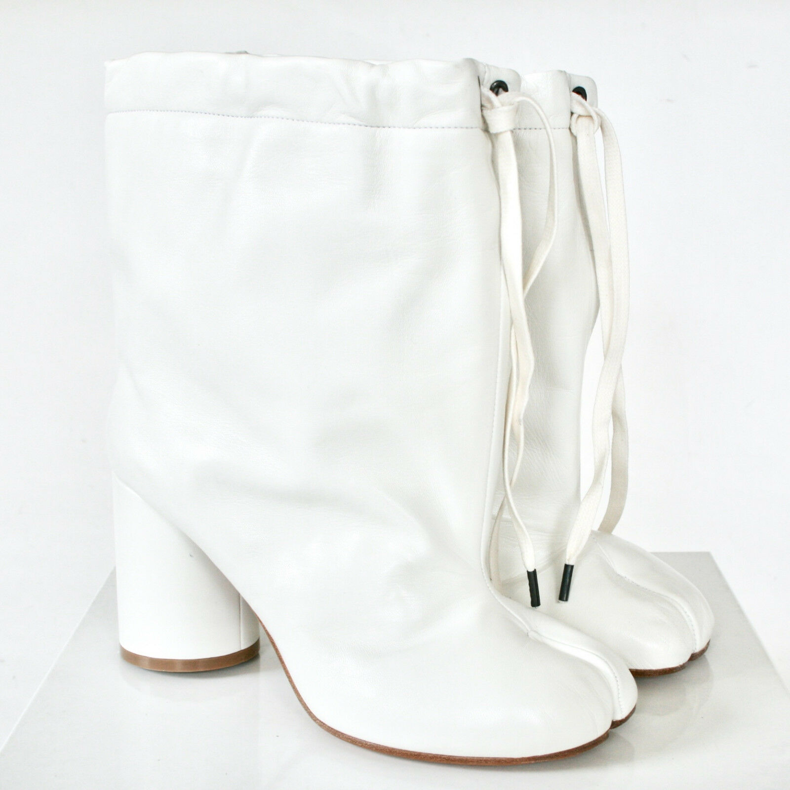 outlet online economico MAISON MARTIN MARGIELA MARGIELA MARGIELA split toe bianca leather avvioies scarpe tabi stivali 38.5 NEW  sconto prezzo basso