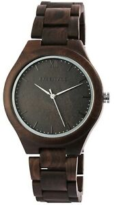 Excellanc-Herrenuhr-Braun-Analog-Holz-Quarz-Wood-Armbanduhr-X-2800049-001