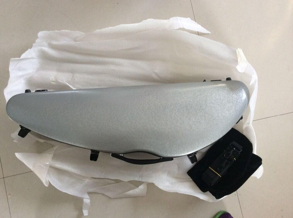 Nice fiberglass violin case 4 4 size grey color  knife shape violin case