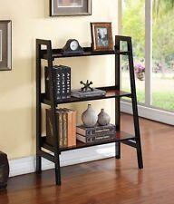 Linon Camden Three Shelf Bookcase In Black Cherry