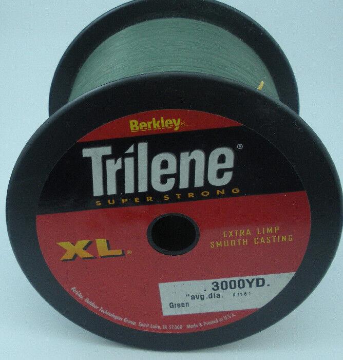 Berkley 1002482 XL3010-22 10 Lb Trilene XL Mono Line 3000 Yd LowVis Green 10647