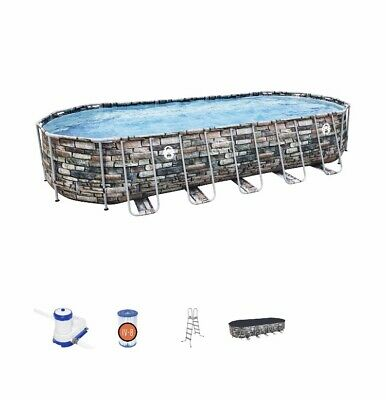 Coleman 26 X 52 Quot Power Steel Oval Above Ground Pool Set