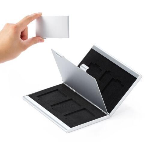Meking Práctico protector de tarjeta de Memoria Caja de almacenamiento 5SD+2TF Nuevo