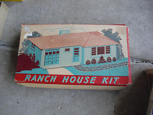 Vintage-1950s-O-Scale-Plasticville-White-Yellow-Ranch-House-Kit-in-Box-RH-1-2