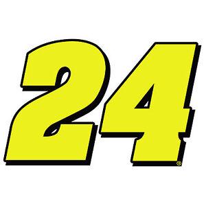 24 >> 6 Jeff Gordon Number 24 Vinyl Window Decals Stickers Nascar Hall Of