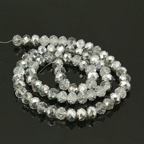 1 phâ-lus rodé perles bijoux perle Electroplated 8*6mm 6*4mm 72-100 st.