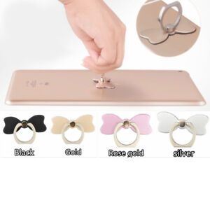 360° Rotating Ring Finger Stand Bracket Bow Shape Holder for Mobile Phone one