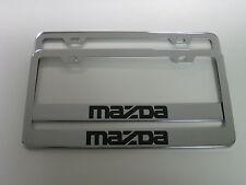(2) MAZDA Stainless Steel CHROME LICENSE PLATE FRAME