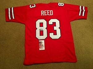 Details about Autographed ANDRE REED Buffalo Bills RED Jersey JSA Authenticated SIZE XL