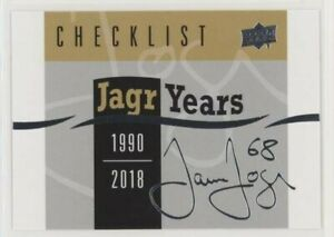 2018-19-Upper-deck-series-1-Jagr-years-FULL-SET