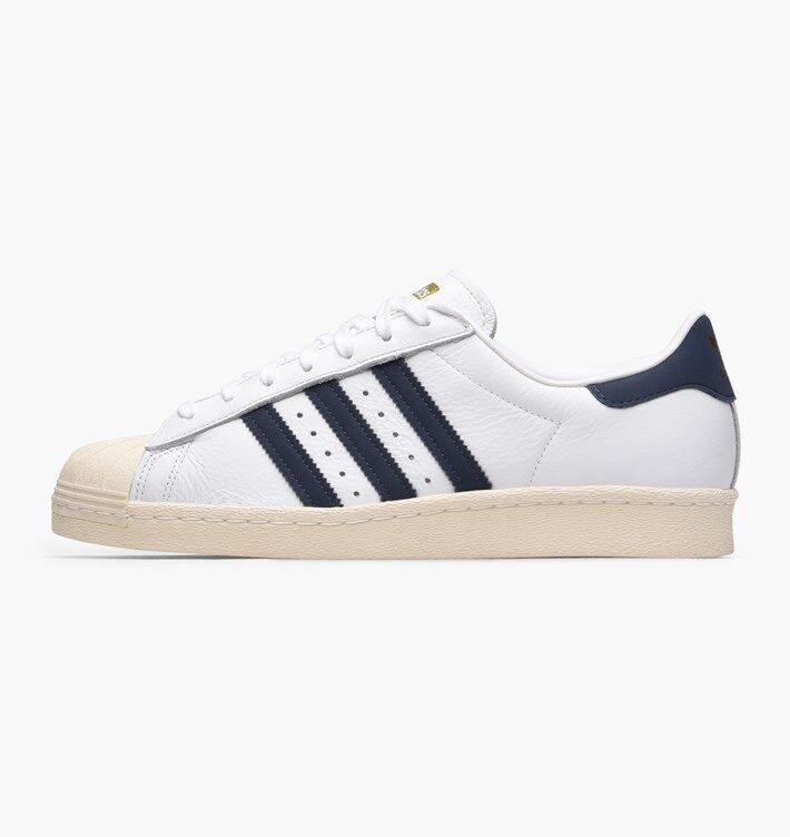 ADIDAS SUPERSTAR 80S  blueE   WHITE  BZ0145  UK 9, 11