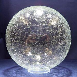 Ersatzglas Craqueleglas Lampenschirm Glaskugel O140mm Loch O 40mm