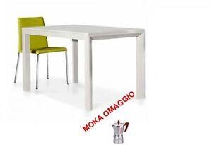 Tavolo Legno Allungabile Moderno.Tables Chairs Tavolo Bianco Frassinato Legno Allungabile Moderno