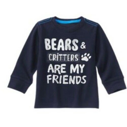 Gymboree Grizzly Ridge 3T 4T 5T Top Bears Critters Friends Shirt Navy