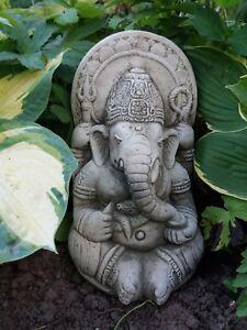 Image Is Loading STONE GARDEN GANESH ELEPHANT GOD BUDDHA STATUE ORNAMENT