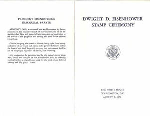 Image Is Loading 1393 First Day Ceremony Program Dwight D Eisenhower