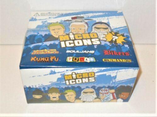 MICRO ICONS MINI FIGURES BIKERS,PUNKS,KUNG FU,COMMANDOS /& MORE BOX OF 12 PACKS
