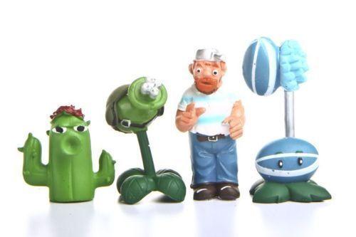 8pcs Plants vs Zombies Dave PVC Action Figures Set Toys Kids Gift Home Decor
