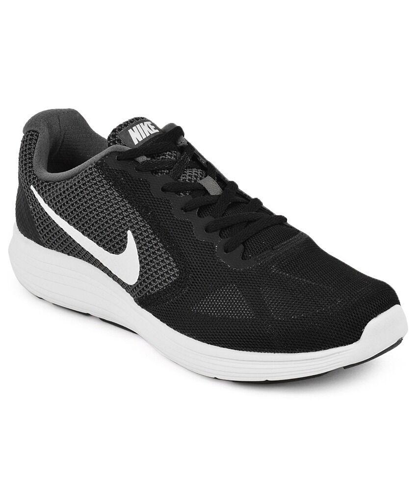 Nike Revolution 3 (4E Wide) Running shoes Dark Grey White-Black 819301 001