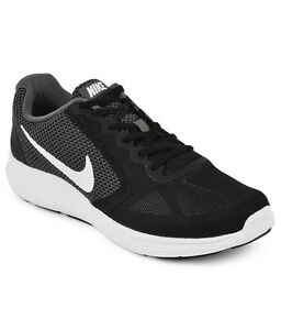 Nike Revolution 3 (4E Wide) Running Shoe Dark Grey/White-Black 819301 001