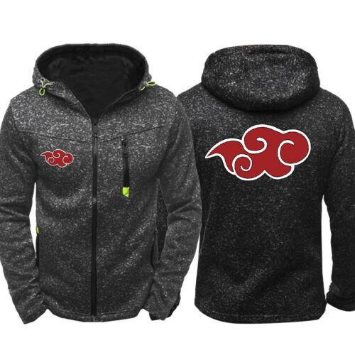 Naruto0 Akatsuki Hoodie Fleece Sports Hooded Coat Sweatshirt Autum Casual Jacket