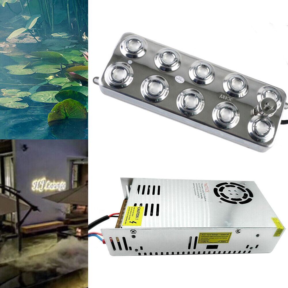 RanBB 10 Head Ultrasonic Mist Maker Fogger H DC 48V Water Fountain Pond Atomizer Air Humidifier 6KG
