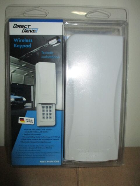 Direct Drive Wireless Keypad 4078v002 For Garage Door Opener Model