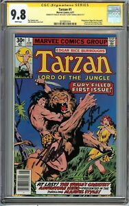 Tarzan-1-CGC-9-8-NM-MT-SS-2x-STAN-LEE-amp-ROY-THOMAS-BURROUGHS-Story-Adaptation