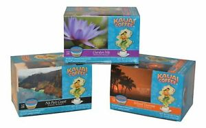 Kauai Coffee Variety K-Cups Dark Medium Mild (Pack of 3) 4.2 Oz.