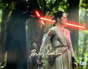 Daisy Ridley Star Wars Force Awakens Rey Signed Authentic