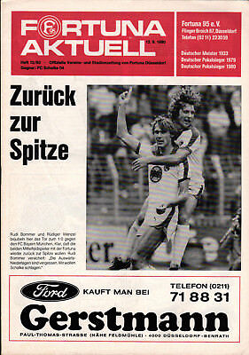 FC Schalke 04 vs Schalker Kreisel Fortuna Düsseldorf 23.02.2013 Programm