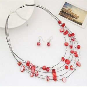 Fashion-Wedding-Bridal-Multi-Layer-Jewelry-Sets-Crystal-Necklace-Earrings-Set
