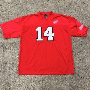 VTG-Brennan-Shannahan-Detroit-Red-Wings-Football-Jersey-14-NHL-Stitched-Sz-XL